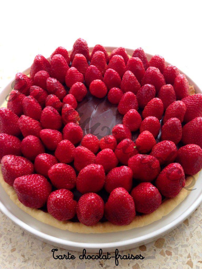 Tarte chocolat-fraises