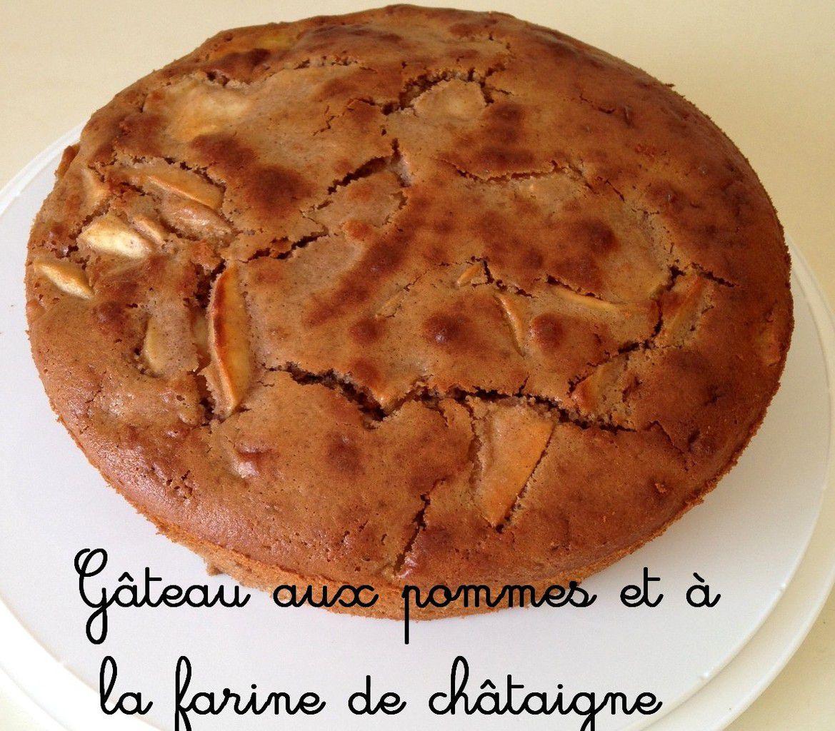 Gâteau aux pommes et à la farine de châtaigne