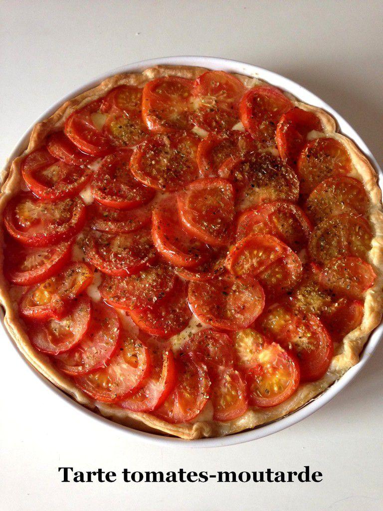 Tarte tomates-moutarde