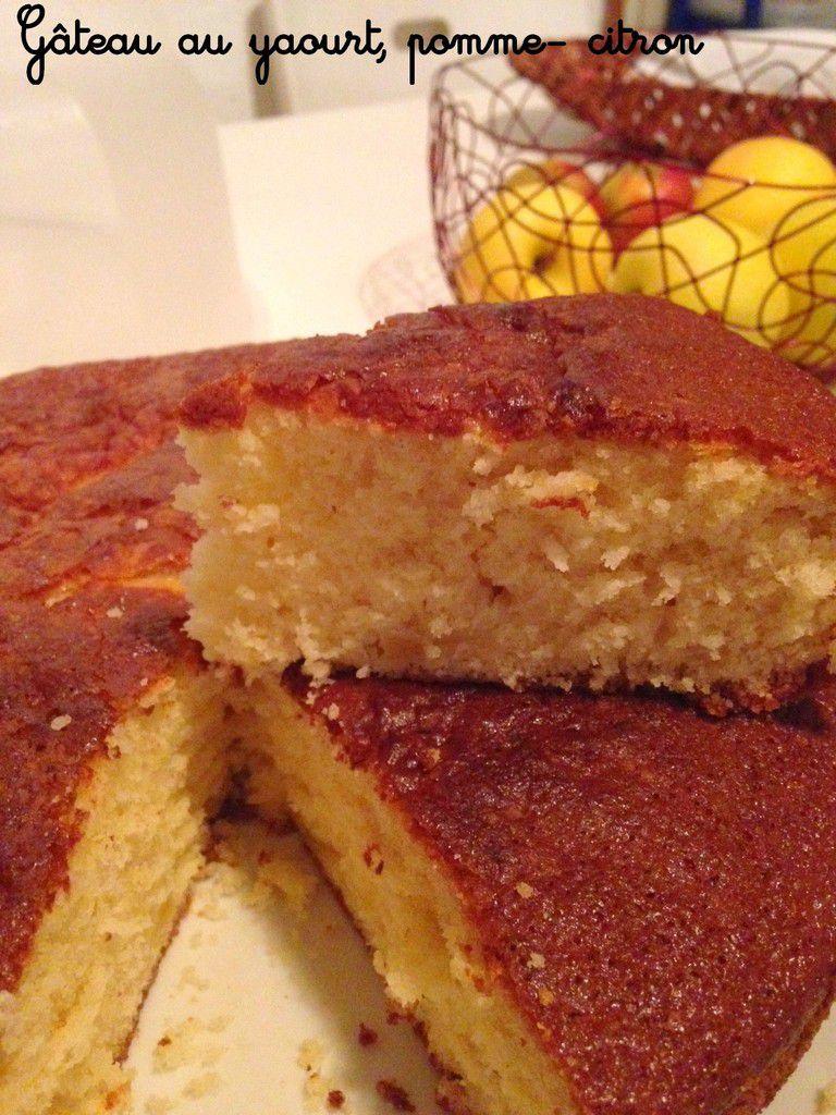 Gâteau au yaourt, pomme, citron