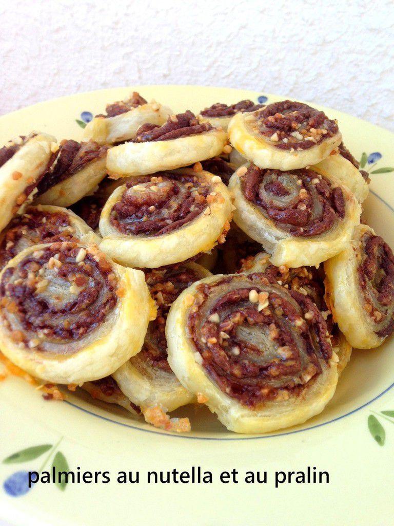 Palmiers au nutella et au pralin