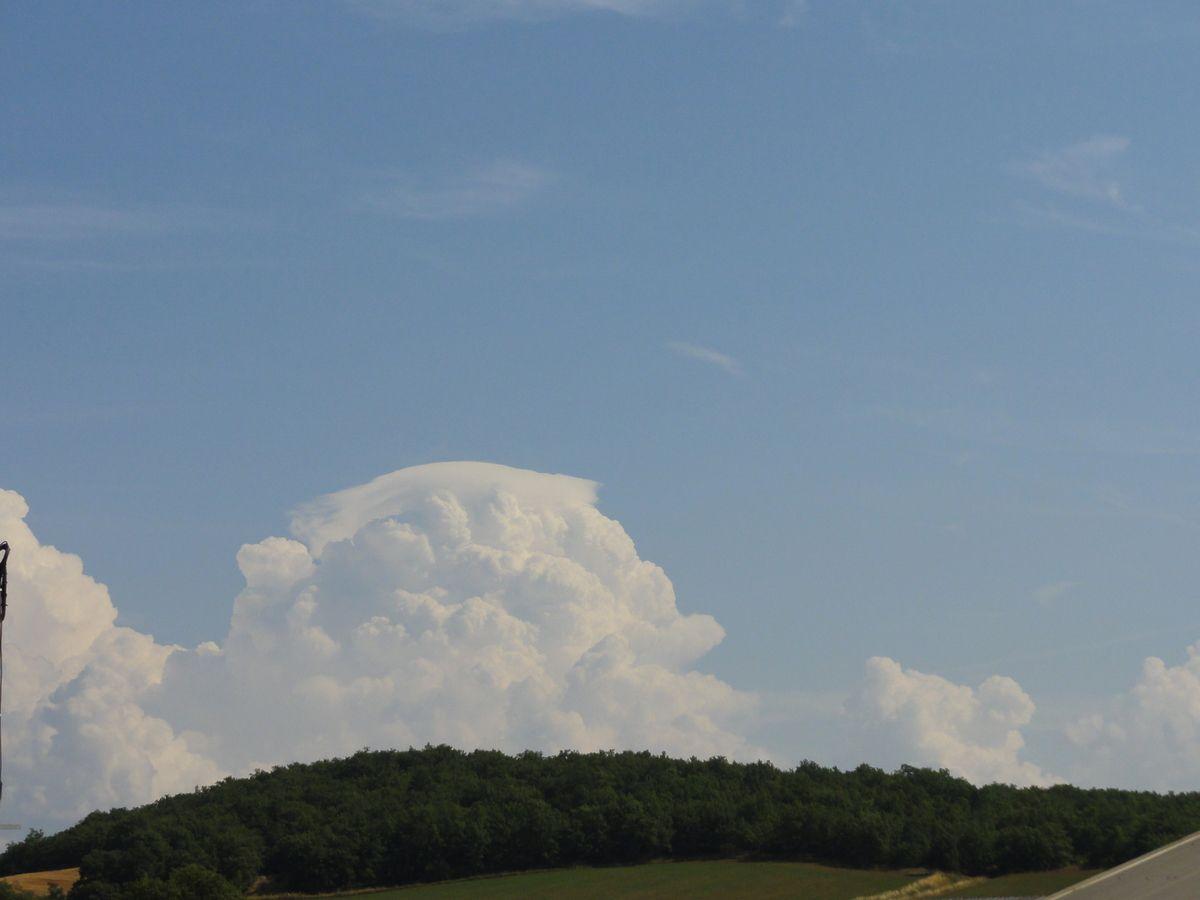 Cumulus congestus avec pilleus au sommet