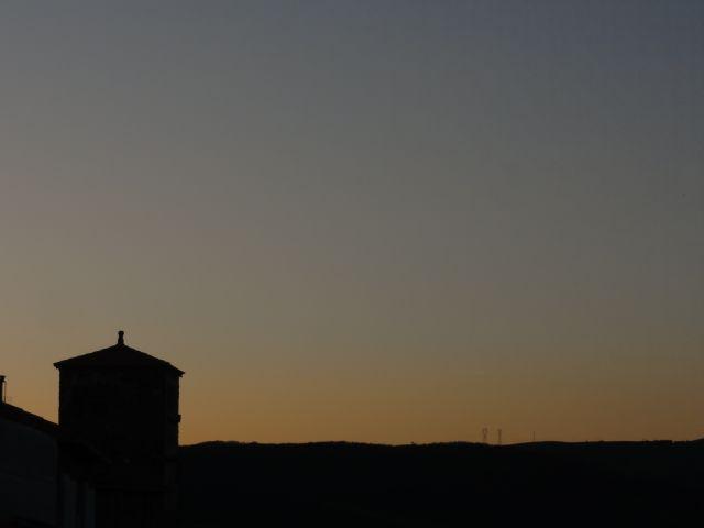 Crépuscule du soir sur Rayssac