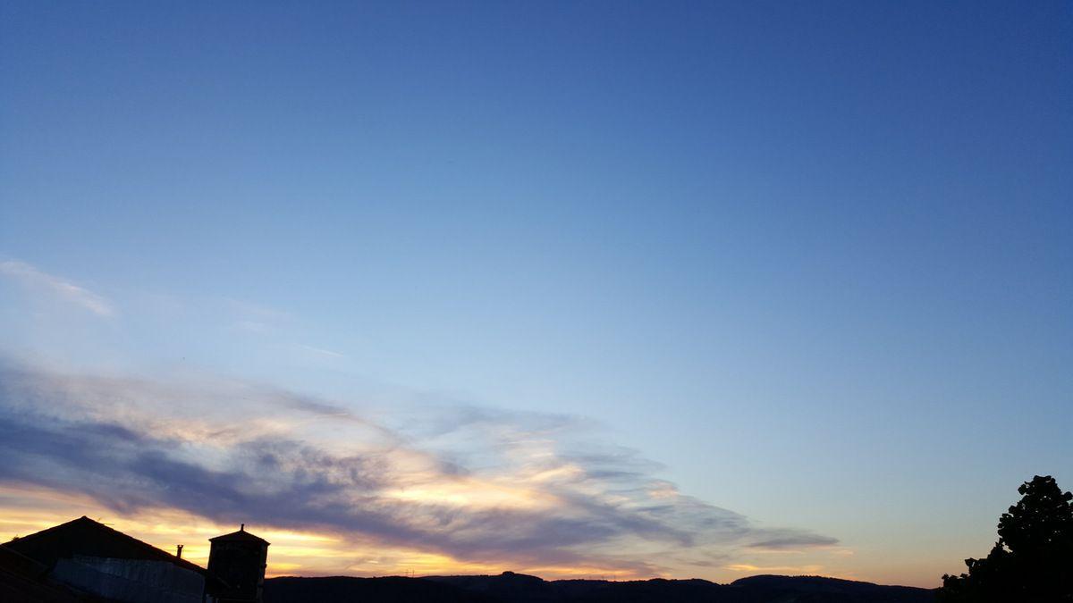 Crépuscule du soir sur Rayssac et Tiergues