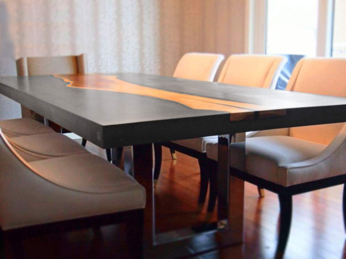 table salle a manger beton cire conceptions de maison. Black Bedroom Furniture Sets. Home Design Ideas