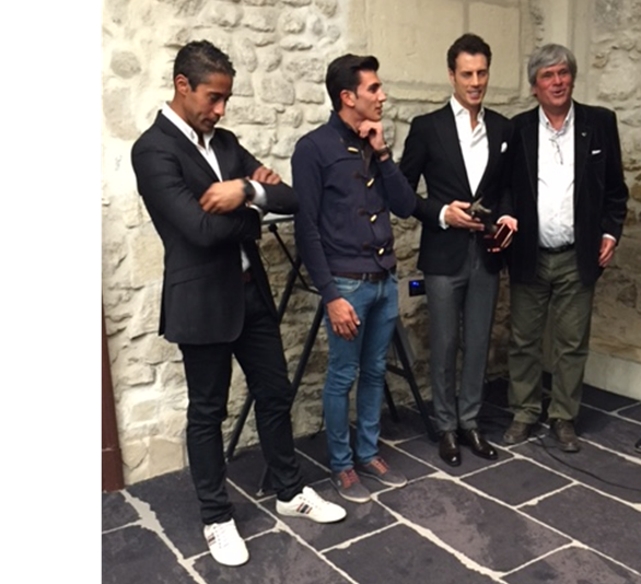 De gauche à droite : Mehdi Savalli, Daniel Soto, Finito de Cordoba et René Dagand (Photo DR)
