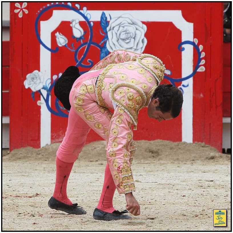 Le quinto se prêta à une lidia pléthorique entamée par trois largas cambiadas afaroladas de rodillas, véroniques et demie, poursuivie par trois rencontres au cheval où le bicho fut progressivement éloigné du picador, parcourant les deux tiers du ruedo pour une troisième pique au regaton. Palmas et musique pour le uhlan. Le second tiers fut tout aussi animé, entamé par un saut à la garrocha du banderillero Raul Ramirez immédiatement suivi par le maestro pour la pose de la première paire de banderilles, violin pour la deuxième paire et cite assis sur une chaise pour la troisième, le toro tardant à charger pour cette dernière. La (trop) longue faena ambidextre qui suivit vit un Sanchez Vara a gusto qui alterna les deux bords, avantagé par les bonnes charges du toro qui répétait à l'envi. Ce trop long trasteo laissa le toro lessivé au final au point qu'il ne chargea plus lors de la tentative de recibir de Vara. Suivirent sept entrées a matar infructueuses pour enfin une quasi-entière basse hémorragique au huitième assaut frôlant les trois avis. Vuelta pour son compte.
