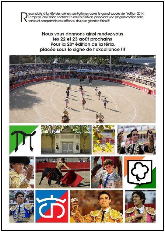 ... SAINT-GILLES 2015 ... PRESENTATION DE LA FERIA DE LA PÊCHE ET DE L'ABRICOT ...