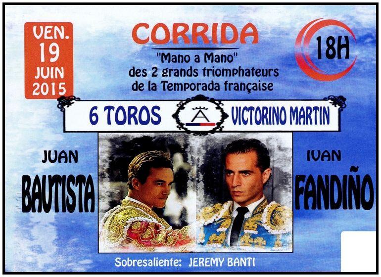... FERIA D'ISTRES ... VENDREDI 19 JUIN A 18H00 ... CORRIDA DECEVANTE ... PEU DE TOROS ... ET BEAUCOUP DE VENT ...