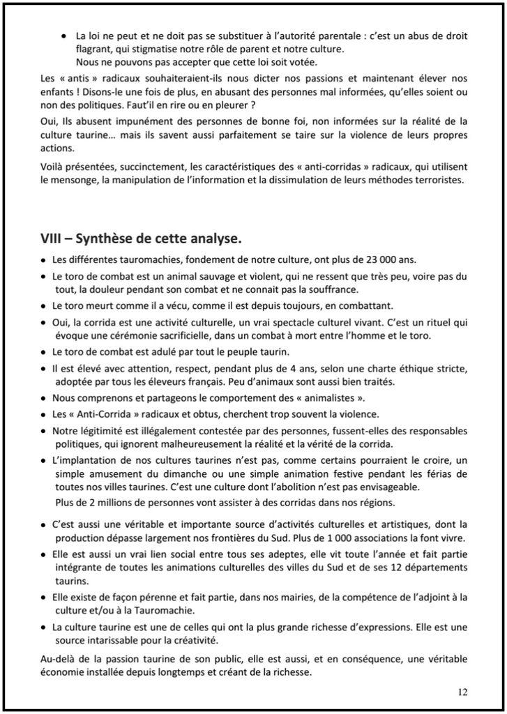 ... LES ANTI-CORRIDAS FACE A LA CORRIDA ... POURQUOI ET COMMENT ? ... PAR ALAIN GAIDO, PRESIDENT DE L'UVTF ...