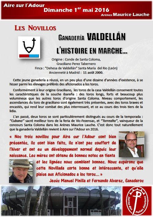 ... 1er MAI 2016 ... NOVILLADA D'AIRE-SUR-L'ADOUR ... DÉFI GANADERO SALTILLO-VALDELLAN ...