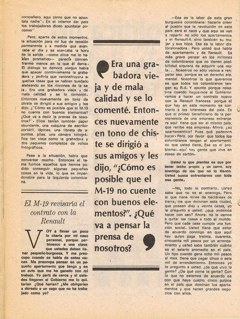 Documentos en la historia del M-19