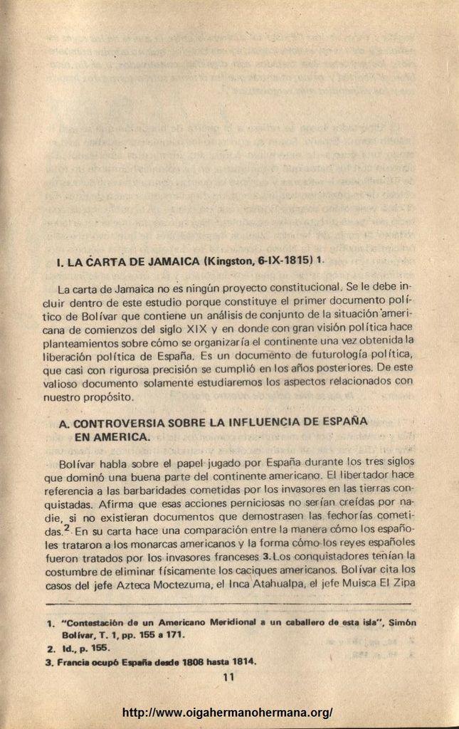 Concepción del Estado en el pensamiento de Bolívar