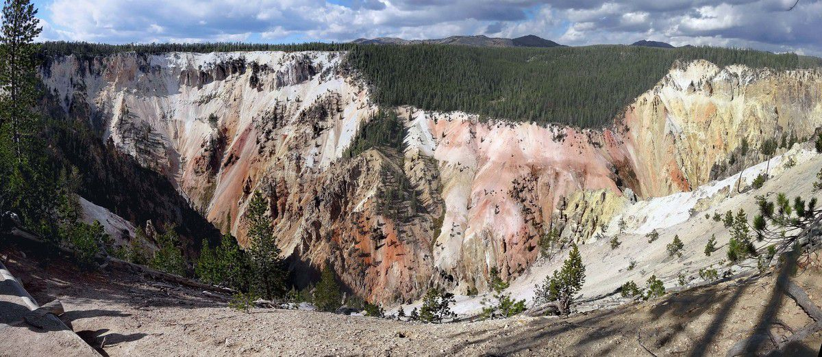 Yellowstone Canyon Point Sublime trail