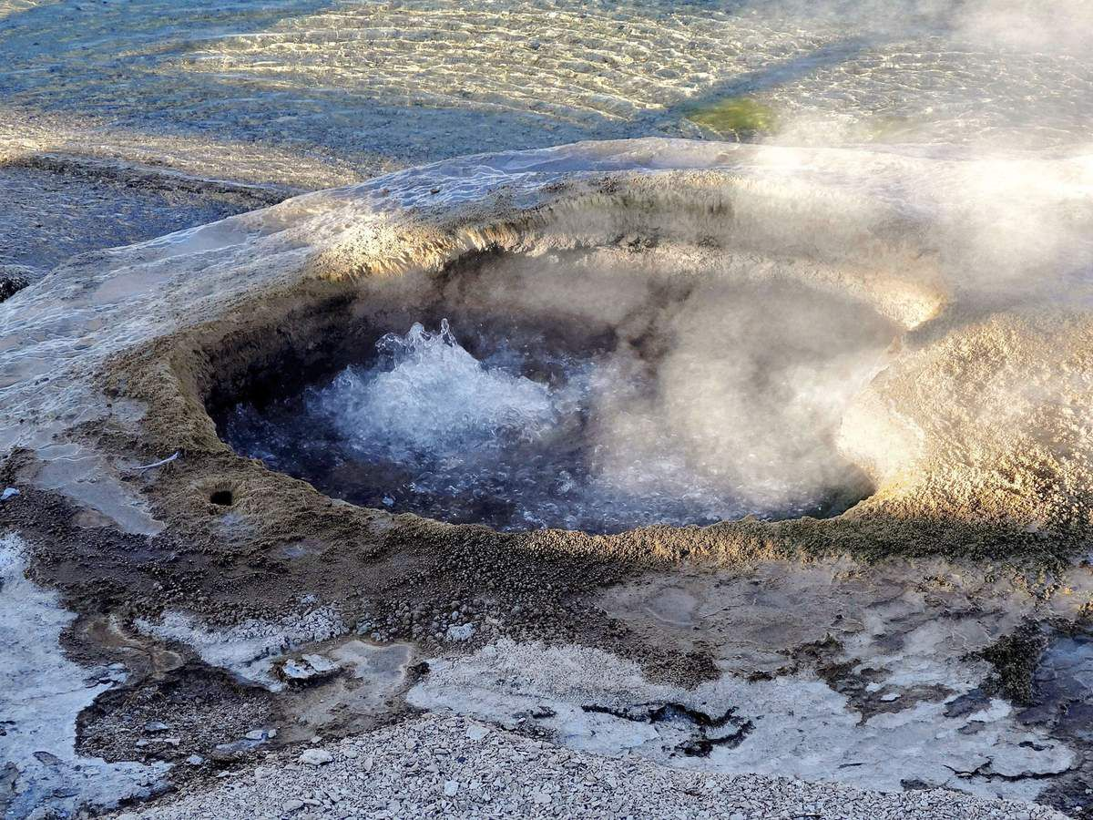 West Thumb Lakeshore geyser