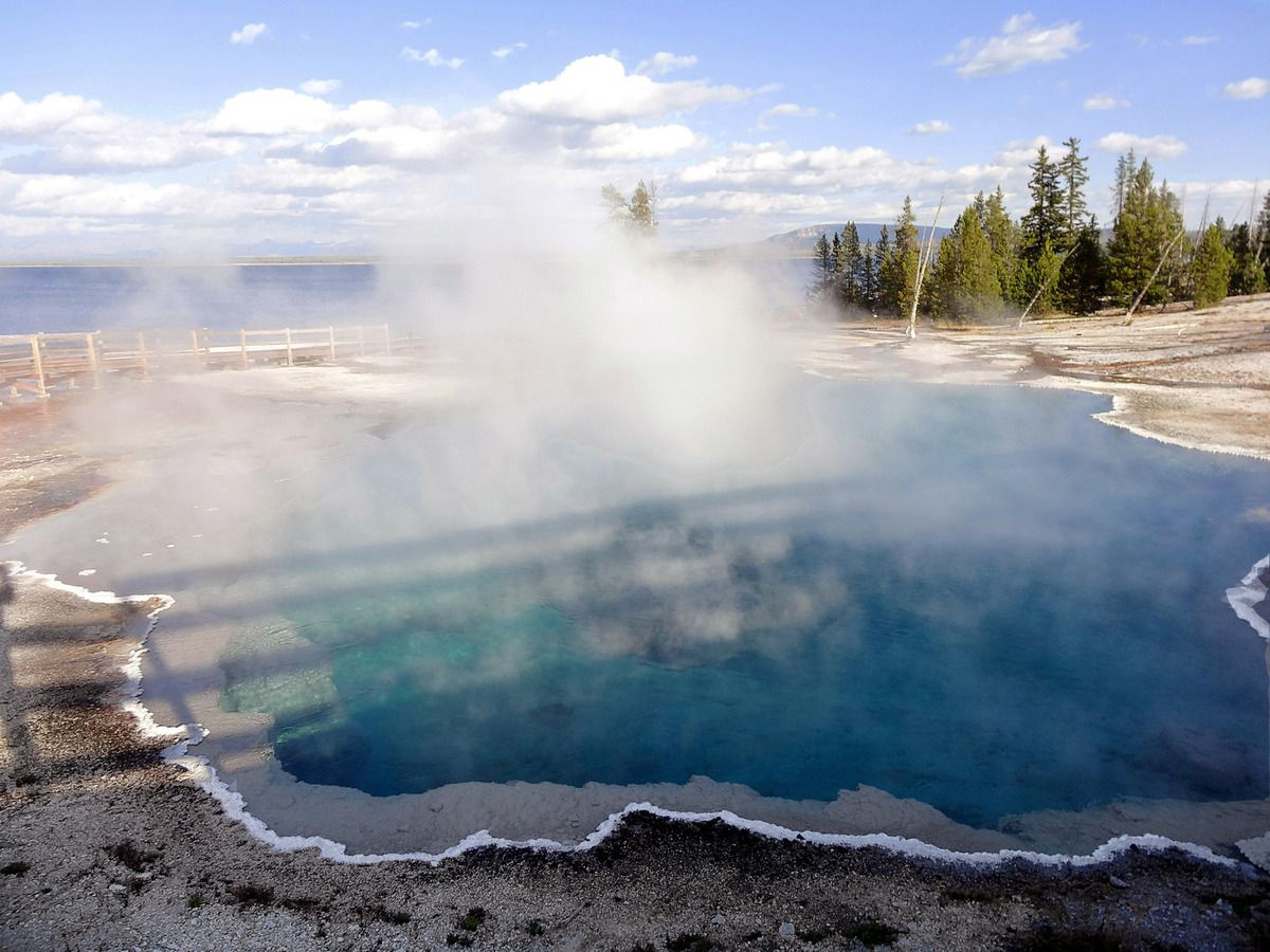 West Thum Geyser Basin Black Pool