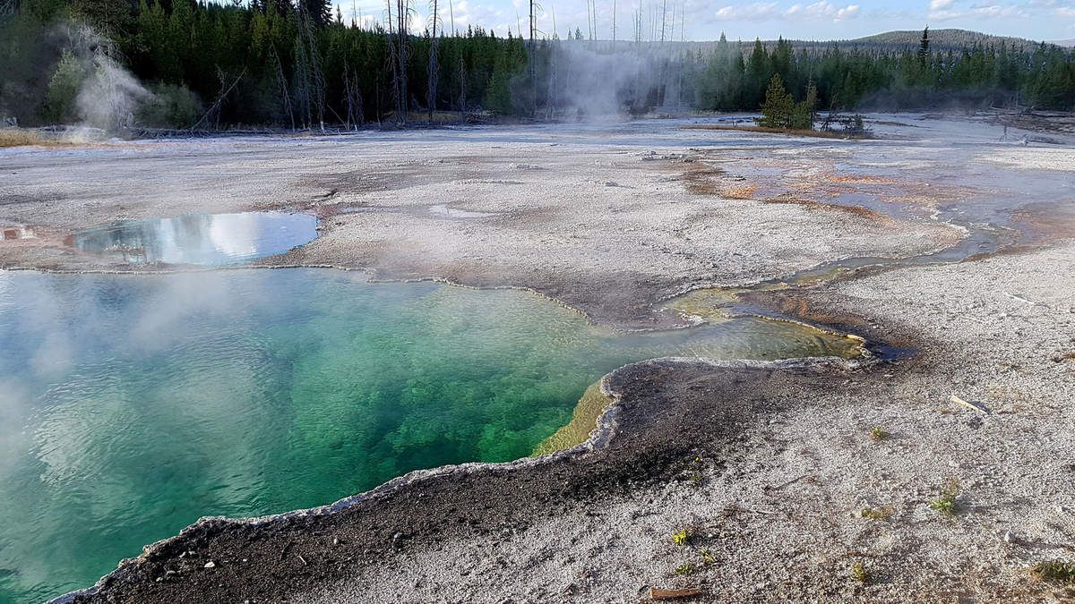 West Thumb Geyser Basin Abyss Pool