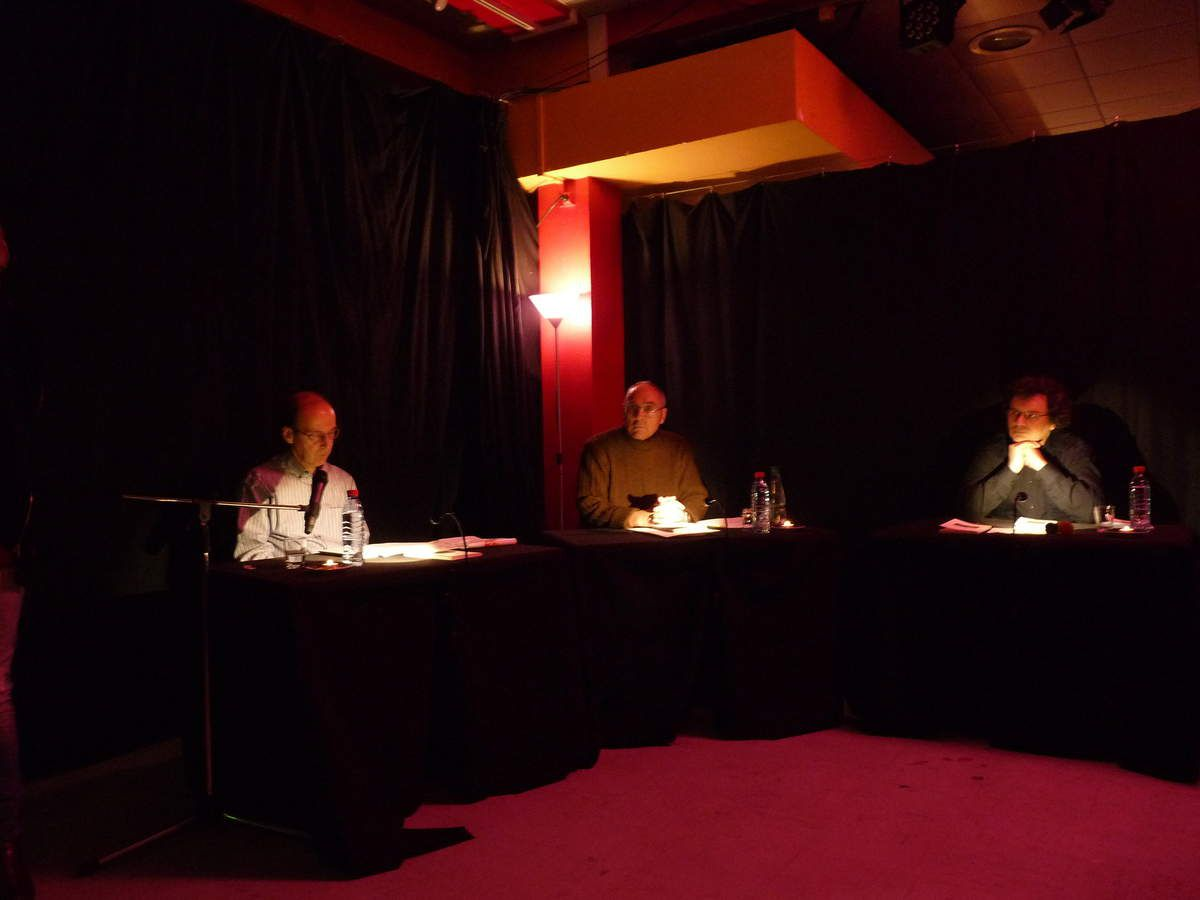 François Folscheid, Jean Hourlier et Eric Simon (Photo ex-libris.over-blog.com, le 20/11/2015)
