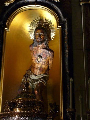 Le Christ à la Colonne, basilique Saint-Pierre-et-Saint Paul, Acireale (Photo ex-libris.over-blog.com, mercredi 11 mai 2016)