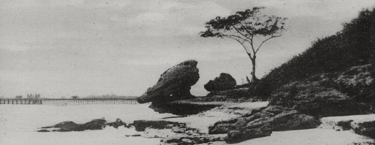 Roche fétiche de Pointe-Noire (cliché Gouvernement Général AEF - août 1928)
