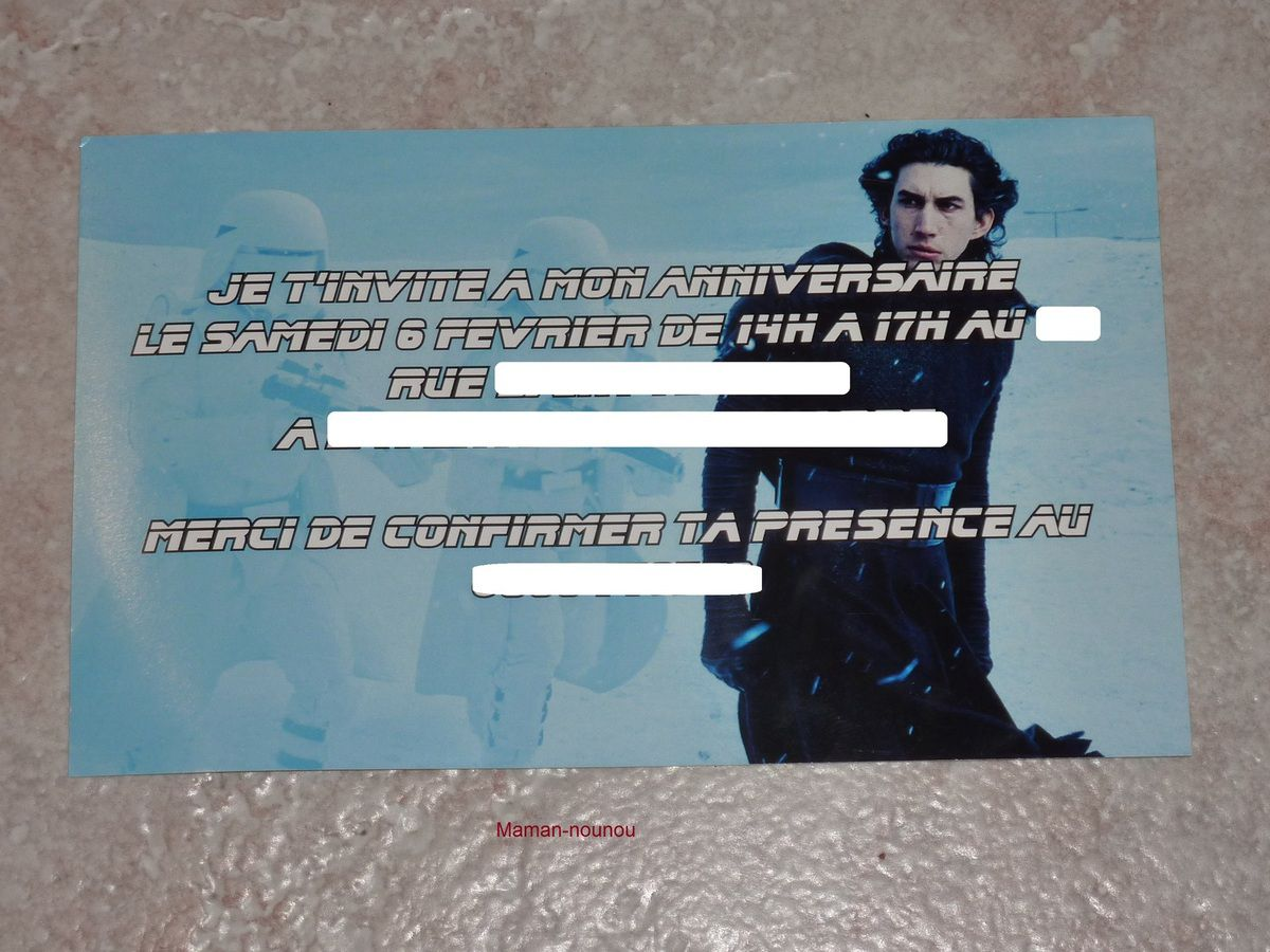 Favori Carte invitation anniversaire Star Wars - LE BLOG DE MAMAN NOUNOU NJ02