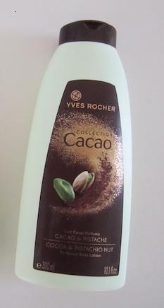 Lait corporel Cacao/Pistache de Yves Rocher