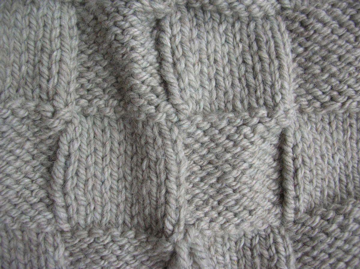 Poncho au tricot