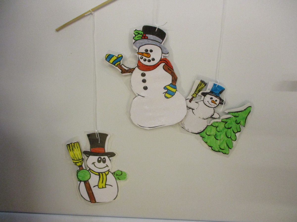 Mobiles bonhommes de neige