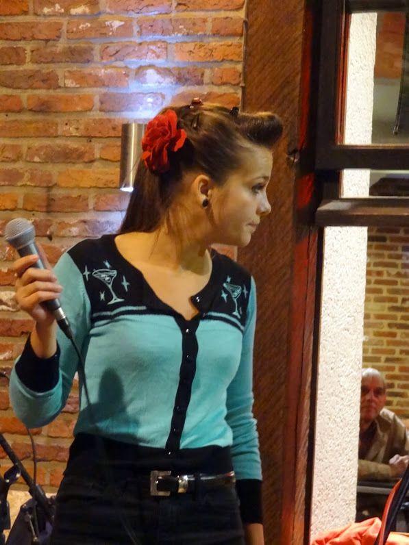Ghalia and The Naphtalines au Café de L'Université lors de la Braderie d'Ixelles, le 5 septembre 2015