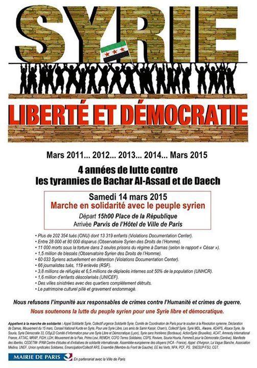 #NousSommesSyriens: 4 années de lutte contre les tyrannies de Bachar Al Assad et de Daech