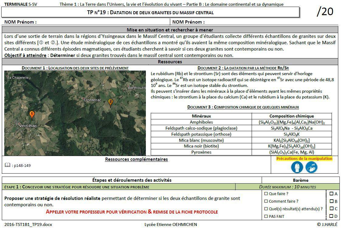 TS_TP19 : La datation de deux granites du Massif Central