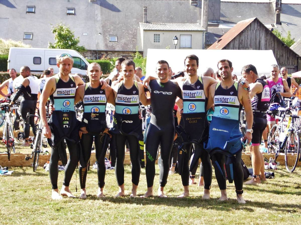 Les 6 finishers du Half Breizhman. (Photo Jo Philippe)