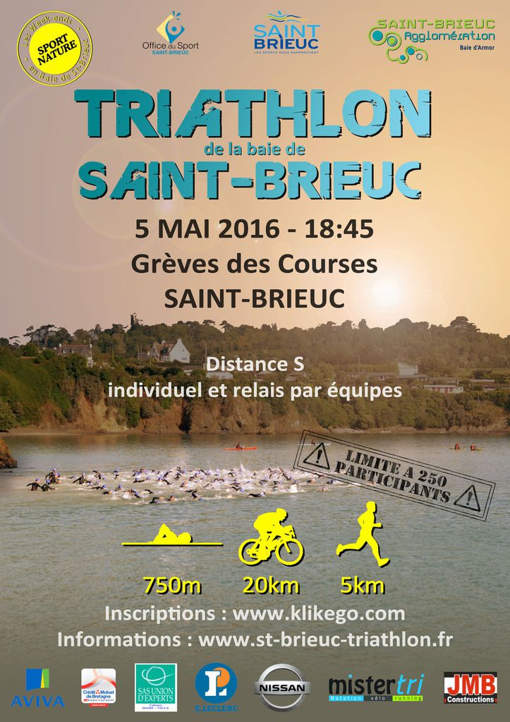 Triathlon de SAINT-BRIEUC - 05/05/16
