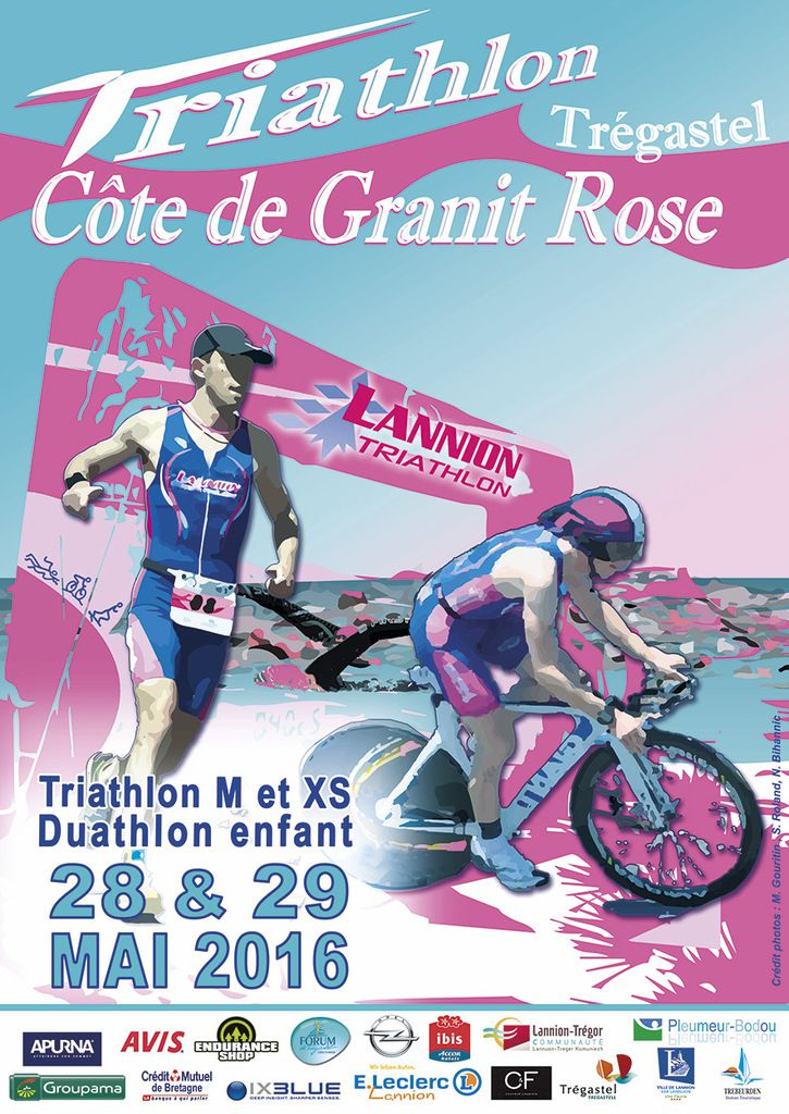 News du triathlon de la Côte de Granit Rose 2016