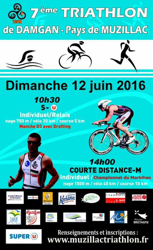 News du triathlon DAMGAN 2016