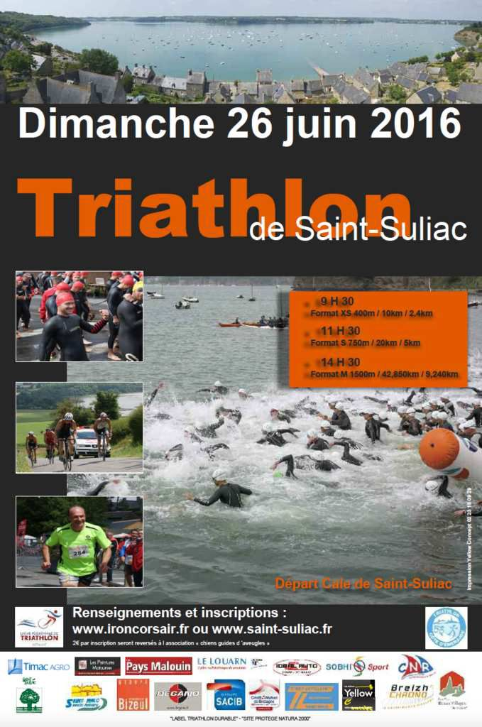 News du triathlon de ST SULIAC 2016