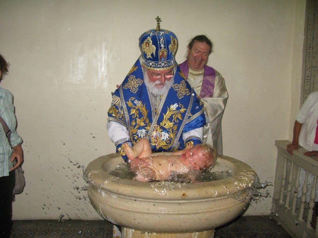 Baptême de Maxime le 5 juillet 2015 à Saint Fargeau