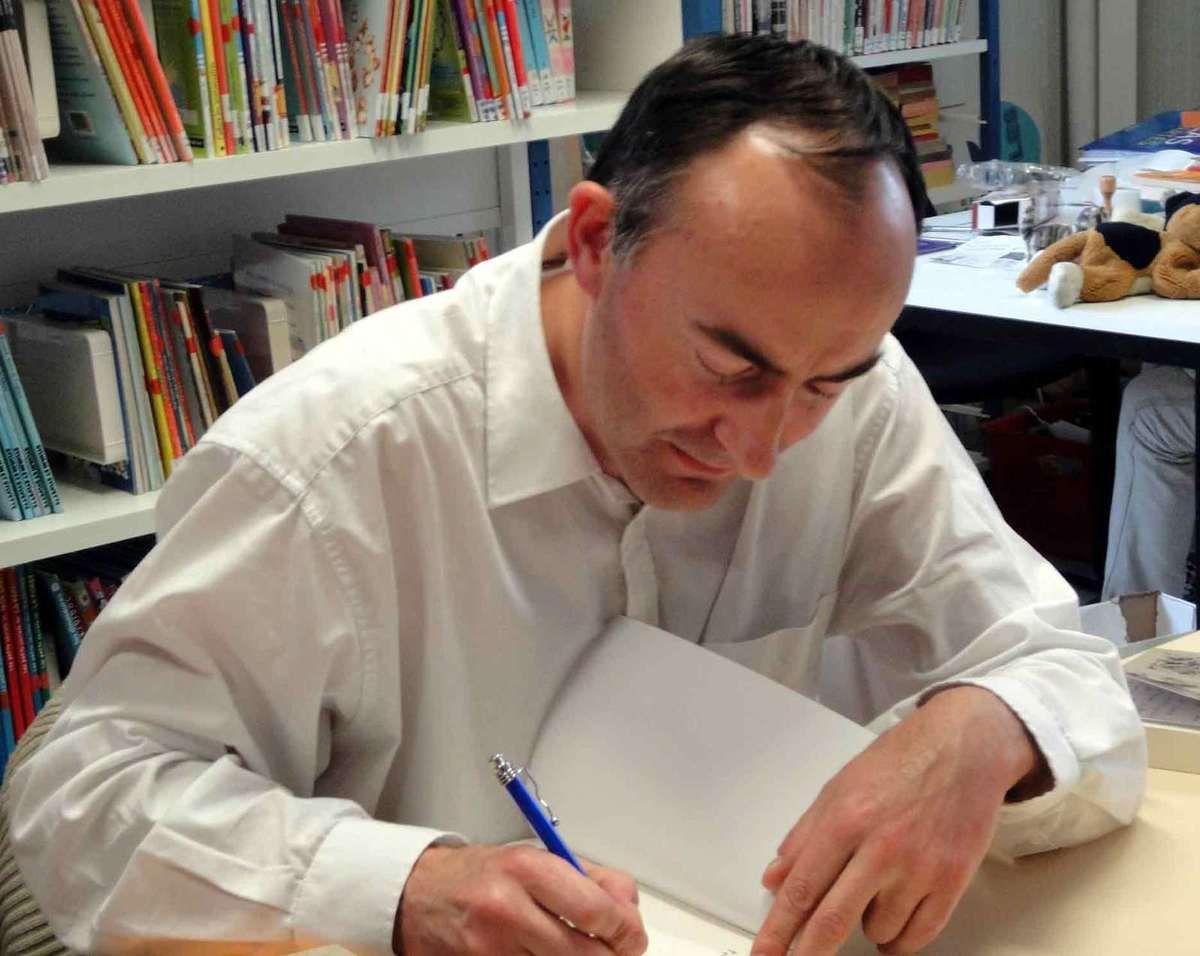 Fabrice Mauclair lors d'une précédente dédicace