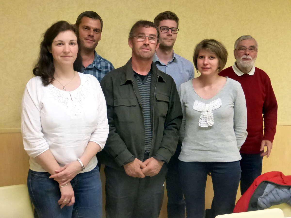 Le nouveau comité de la foire avec à droite, Lionel Royer