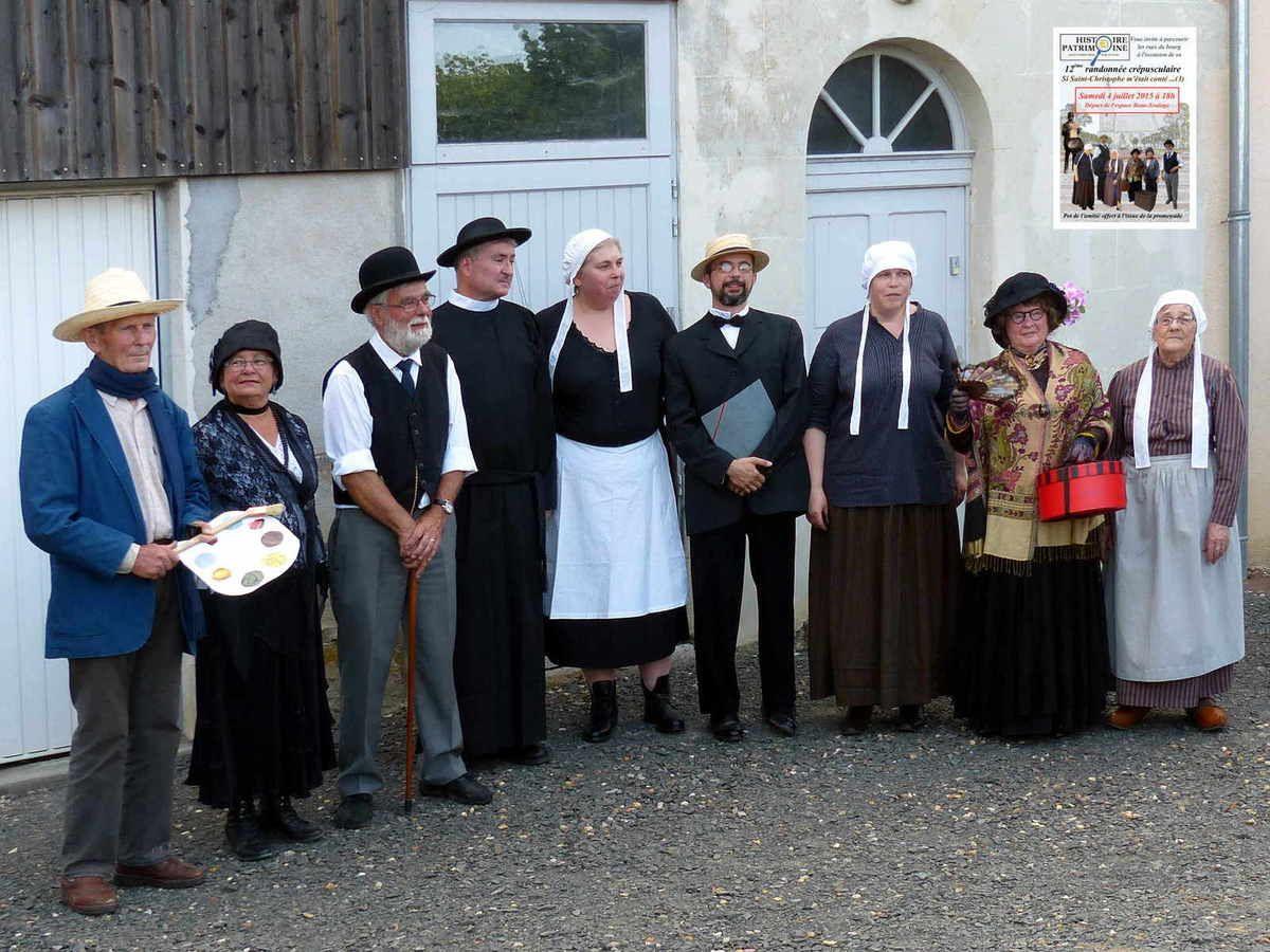 De gauche à droite : Guy Bodeven, Monique Royer, Lionel Royer, Dany Vivien, Françoise Vivien-Doyen, David Bonneau, Brigitte Bonnaud-Doyen, Claudie Mirault, Monique Mauclair