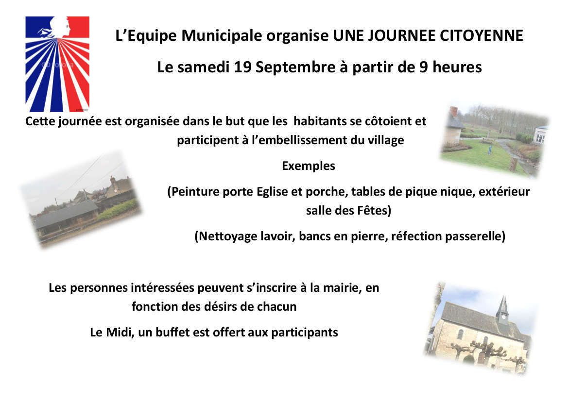 Journée citoyenne à Villebourg