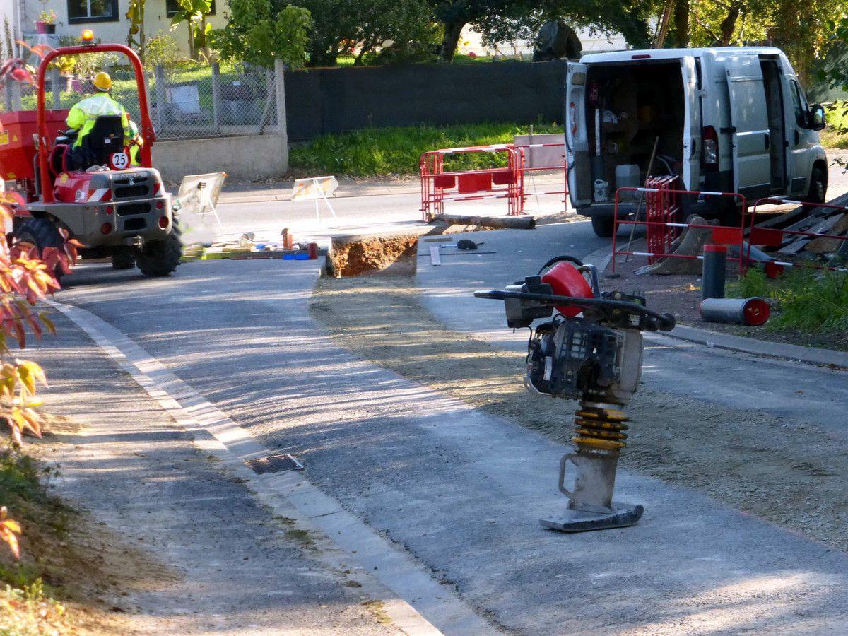 Nouvelles canalisations à Saint-Paterne-Racan