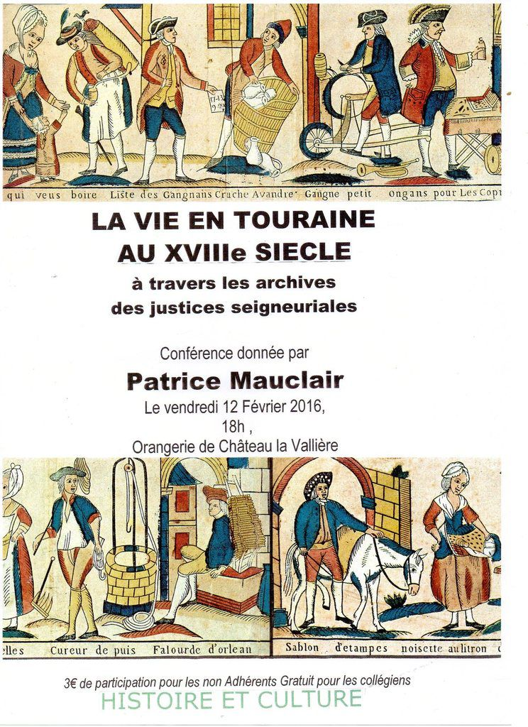 Conférence à Château-la-Vallière