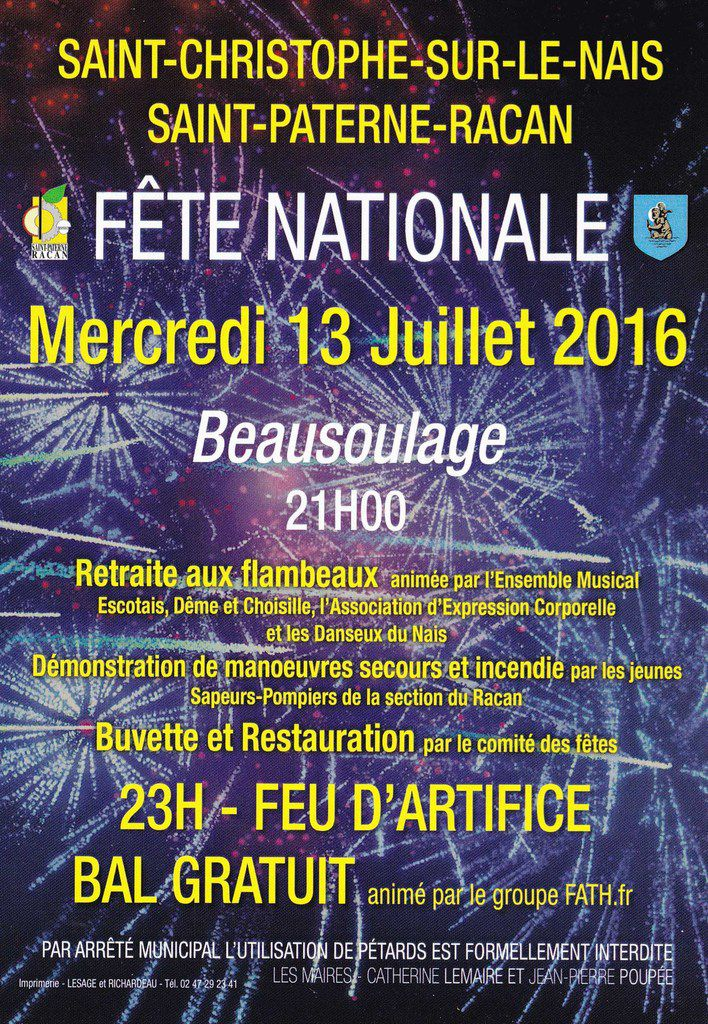Fête nationale à Saint-Christophe-sur-le-Nais