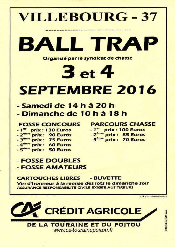Ball trap à Villebourg
