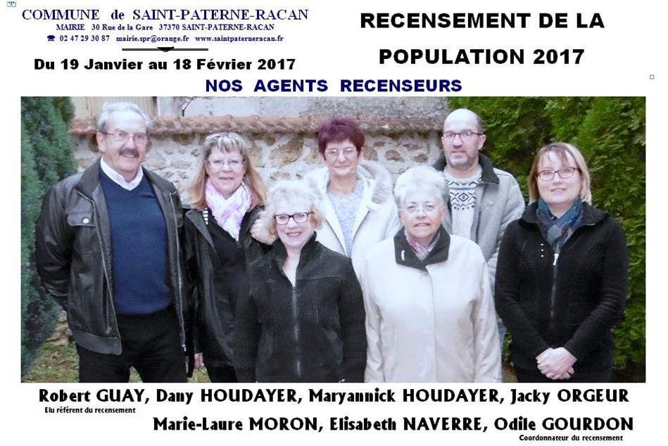 Recensement de la population en 2017 à Saint-Paterne-Racan