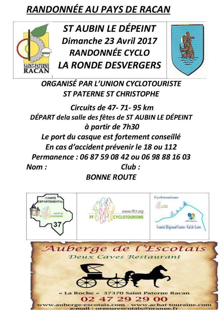 À pied ou à vélo randonnez dimanche avec l'UCSTC