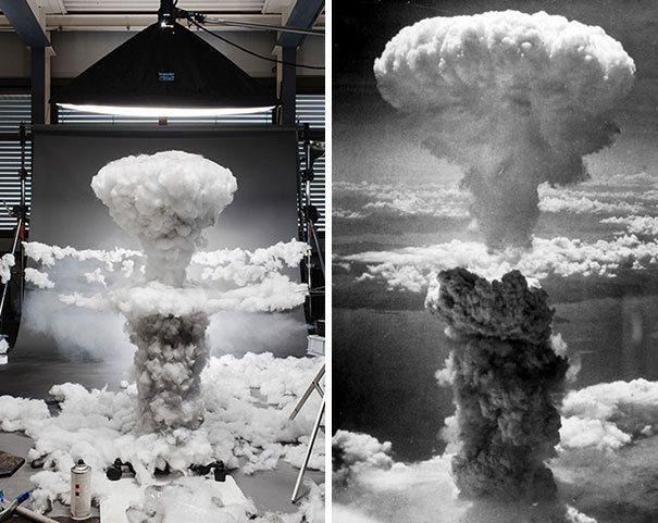 Explosion d'une bombe nucléaire en 1945