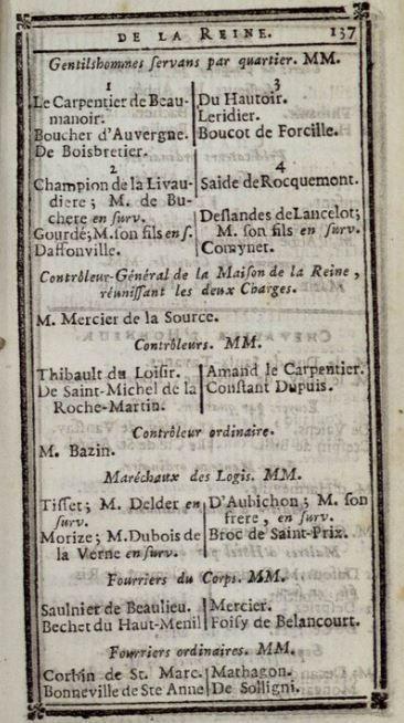 Janvier 1788: Maison de la Reine