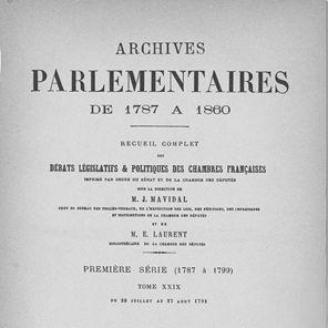 08 juillet 1789: Assemblée Nationale